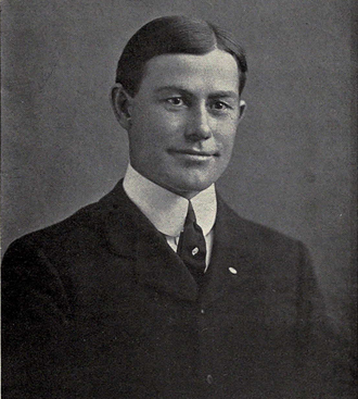 Bob Blake (American football) - Michigan coach Fielding Yost (pictured) selected Blake first-team All-American.
