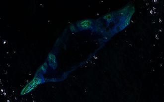 Fiery Cross Reef - Satellite image from 2000m