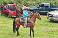 Fiestas Patrias Parade, South Park, Seattle, 2015 - preparing the horses 20 (20931823693).jpg