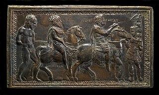 King Juba I of Numidia Led in Triumph by Julius Caesar
