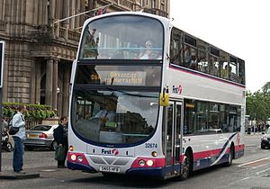 First Scotland East - Wright Eclipse Gemini bodied Volvo B7TL on Princes Street
