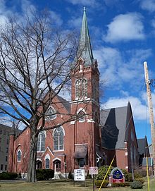 First Congregational Church, 508 Union St., Manchester, NH 1880.
