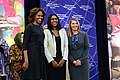 First Lady Michelle Obama and Deputy Secretary Higginbottom With 2014 IWOC Awardee Roshika Deo of Fiji (12935532395).jpg