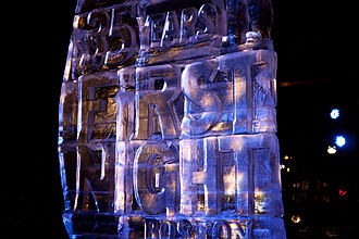 First Night - An ice sculpture at First Night Boston
