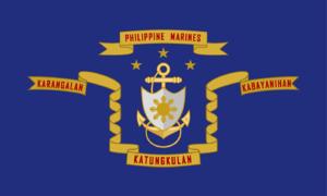 LVT-5 - Image: Flag of the Philippine Marine Corps
