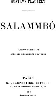 <i>Salammbô</i> novel by Gustave Flaubert