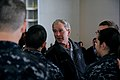 Flickr - Official U.S. Navy Imagery - Former President George W. Bush shakes hands with Sailors following a promotion and reenlistment ceremony aboard the aircraft carrier USS George H.W. Bush..jpg