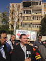 Flickr - The Israel Project - Israel Information Minister Yuli Edelstien briefs reporters where 3 civilians were killed by a Hamas rocket..jpg