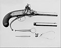 Flintlock Repeating Pistol with Lorenzoni Action, bearing the Crests of Vice Admiral Horatio Nelson, with Case and Acccessories MET 100623.jpg