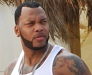 "Flo Rida - Flo Rida on the set of the music video for ""Sugar"""