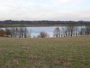 Cleasby - Flooded gravel quarry near Cleasby