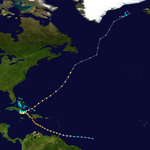 Hurricane Flora - Image: Flora 1963 track