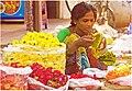 Flower vendor on the streets of Hyderabad.jpg