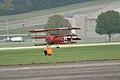 Fokker Dr.I Manfred Richthofen Takeoff 01 Dawn Patrol NMUSAF 26Sept09 (14413306848).jpg