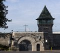 Folsom State Prison is a California State Prison located 20 miles northeast of the state capital of Sacramento LCCN2013630988.tif
