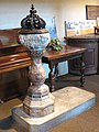 Font in St Mary's church, Bermondsey - geograph.org.uk - 1314616.jpg
