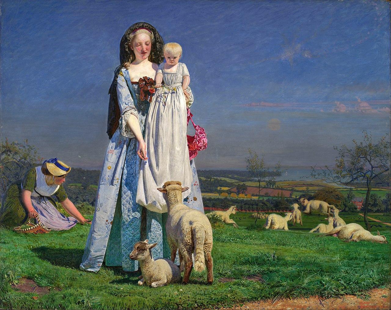 Datei Ford Madox Brown Pretty Baa Lambs Google Art Project Jpg Wikipedia