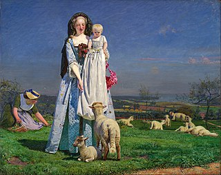 <i>The Pretty Baa-Lambs</i> Painting by Ford Madox Brown