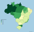 Forest Cover of Brazilian States.png