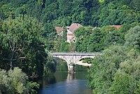Former railway bridge between Noirefontaine and Villars-sous-Danjoux, Doubs, France.jpg
