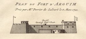 Arguin - The Dutch fort of Arguin in 1721.