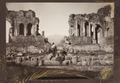 Fotografi på Platea del Teatro Greco, Taormina, 1888 - Hallwylska museet - 107921.tif
