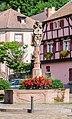 Fountain at Place de la Republique in Ribeauville 02.jpg