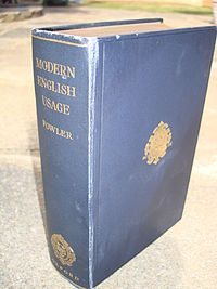 A Dictionary of Modern English Usage cover