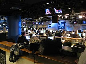 English: FOX News Channel newsroom