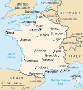 Mapa da Fran�a