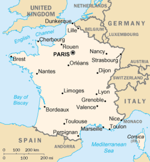 Metropolitan France part of France located in Europe