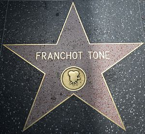 Franchot Tone - Star on the Hollywood Walk of Fame at 6558 Hollywood Blvd.