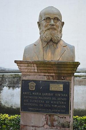 Ángel María Garibay K. - Bust of Garibay Kintana in Tenancingo, Mexico.
