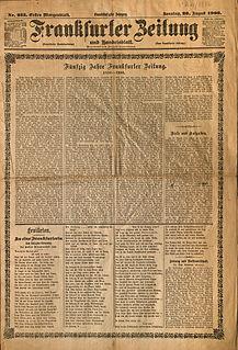 <i>Frankfurter Zeitung</i> periodical literature