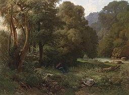 Franz-Dreber Krajobraz górski