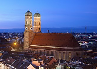 Munich Frauenkirche - Frauenkirche in the evening