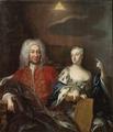 Fredrik I, 1676-1751, konung av Sverige och hans gemål Ulrika Eleonora d.y - Nationalmuseum - 14984.tif