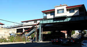 Freeman Street (IRT White Plains Road Line) - Northern street stair
