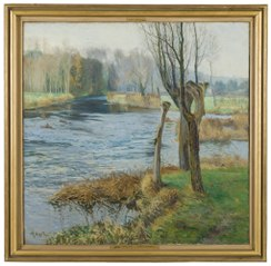 French Landscape with Watercourse