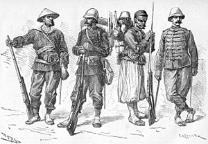 Tonkin Expeditionary Corps - Image: French uniforms Tonkin