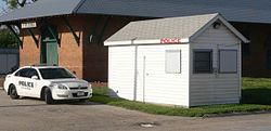 Friend, Nebraska police station from SW 1.JPG