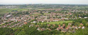 Frodsham - Image: Frodsham hill cropped