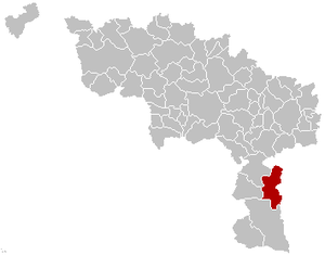 Froidchapelle - Image: Froidchapelle Hainaut Belgium Map