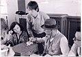 From left to right, Brigitte Schenk, Joseph Beuys and Johannes Stüttgen.jpg