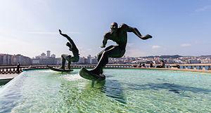 Fuente de Los Surfistas, La Coruña, España, 2015-09-24, DD 07