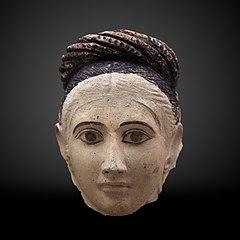 Funerary mask of a woman-MAHG 012455