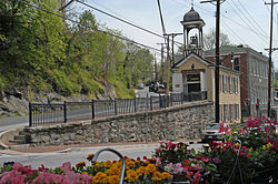 Main Street at Church Lane in Historic Ellicott City