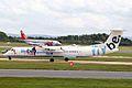G-JECL Dash 8Q-402 FlyBe (George Best logo) MAN 31MAY07 (6828971831).jpg
