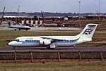 G-UKHP Bae146 Air Uk BHX 21-09-90 (32725574234).jpg