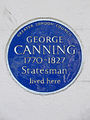 GEORGE CANNING 1770-1827 Statesman lived here.JPG